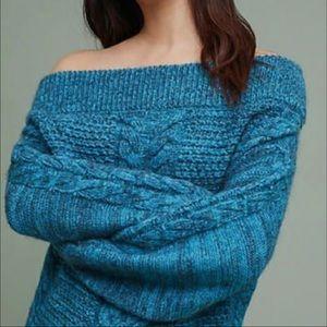 Anthropologie Sleeping on snow sweater Size XL